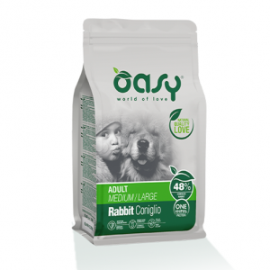 OASY DOG ADULT MEDIUM/LARGE KG.12 CONIGLIO